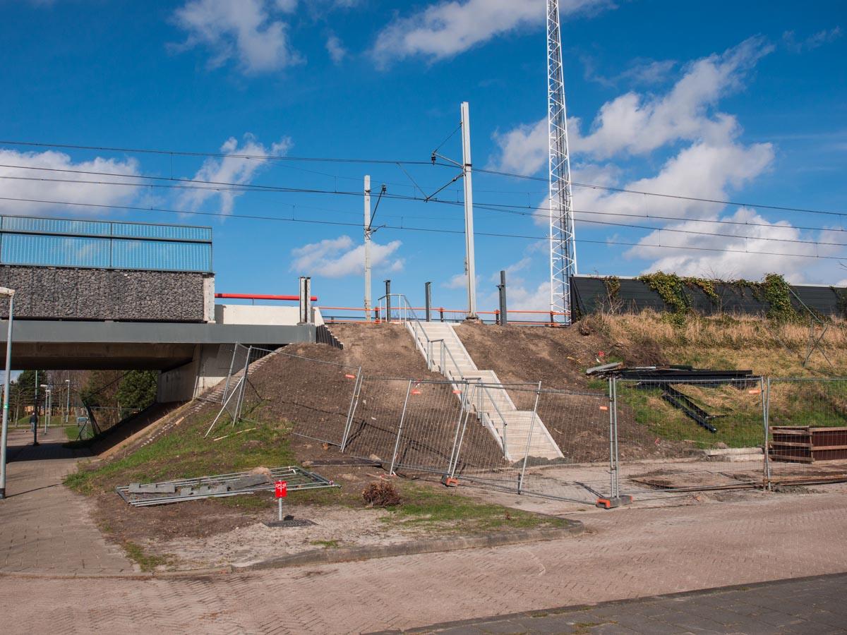 Werk aan het spoor Almere